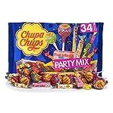 Chupa Chups Party Mix - Bolsa con Golosinas y Caramelos Surtidos, 400 g