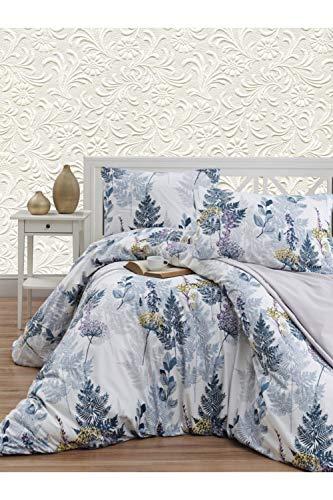 Juego de funda de edredón y funda de almohada para cama doble de algodón