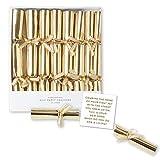 C.R. Gibson Party Cracker Set (8 Piece), 4.4'L X 0.5'W, Gold