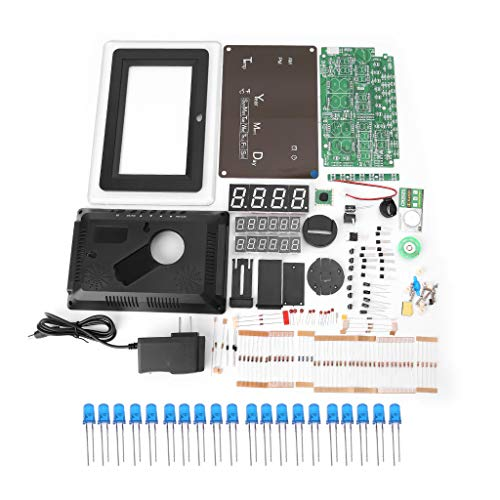BIlinli ECL-1227 Elektronische Uhr DIY Kit Kalender Temperaturanzeige LED Digital Panel