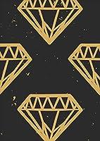 ポスター ウォールステッカー シール式ステッカー 飾り 210×297㎜ A4 写真 フォト 壁 インテリア おしゃれ 剥がせる wall sticker poster pa4wsxxxxx-010209-ds 模様 ダイヤ 黒