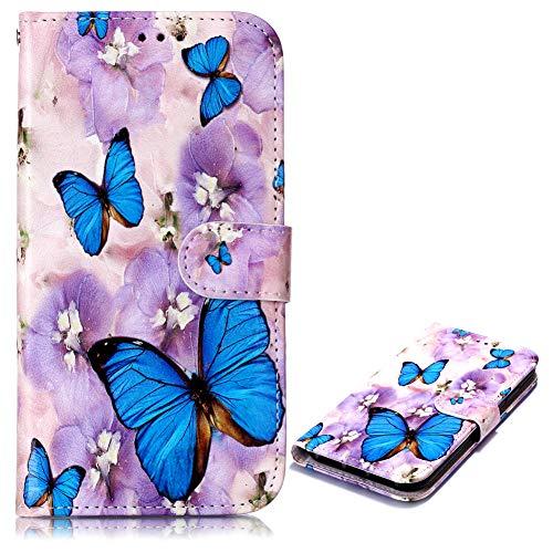 Klassisch Modisch Bookstyle Flip Wallet für iPhone 8 iPhone 7,Bling Glitter Glitzer Diamond Musterg Slim Retro Leder Stand Funktion Kartenfach