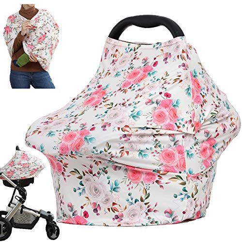 Breastfeeding Cover Car Seat Covers for Babies Multiuse Stroller Carseat Canopy Nursing Covers Boys and Girls Shower Party Gifts