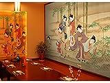 Tapete Fototapete Vlies Tapete 3D Tapeten Kunst Wandbild Japanischen Stil Wandbild Schöne Mädchen Bild Wohnzimmer Flur Hintergrund Dekoration Wand Für Tapeten
