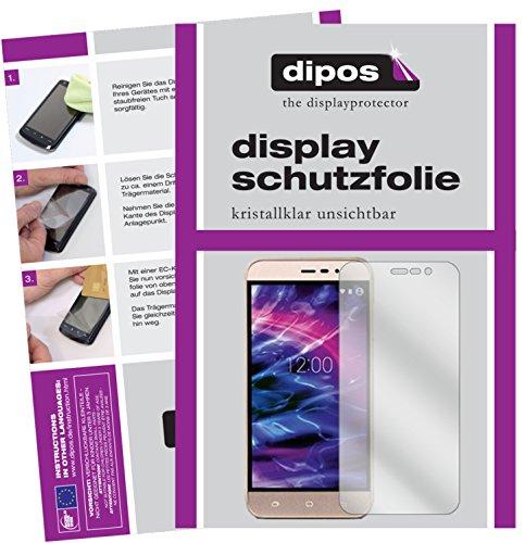 dipos I 2X Schutzfolie klar kompatibel mit Medion Life E5006 Folie Bildschirmschutzfolie