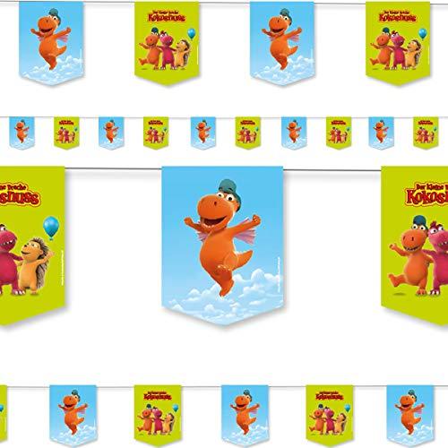 DH-Konzept: 3,5m Wimpelkette * DER KLEINE Drache Kokosnuss * als Deko für Kinderparty und Kindergeburtstag | Kinder Partydeko Girlande Partykette Party Set