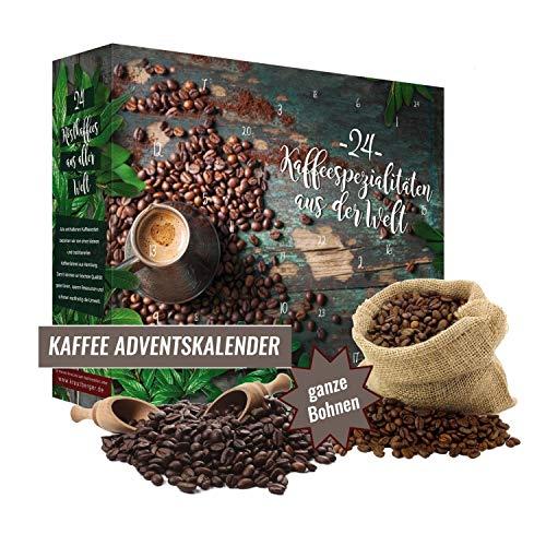 Calendario de Adviento con 480g de café en grano Calendario navideño 2021 I noble set de muestra para regalar I idea de regalo para bebedores de café Probé café I set de café