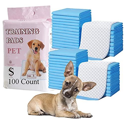 HI FINE CARE Dog Training Pad, Pet Pee Pads Puppy Cat Potty Pads Leak-Proof Quick Dry Disposable Super Absorbent (S)