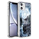 Eouine for Apple iPhone 11 Case, Phone Case Transparent Clear with Pattern Ultra Slim Shockproof Soft Gel TPU Silicone Back Cover Bumper Skin for Apple iPhone 11 Smartphone (Wolf)