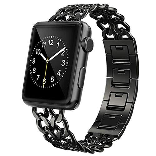 Correa de reloj Correa de acero inoxidable para Apple Watch series SE 6 5 4 40mm 44mm Band Pulsera de eslabones metálicos para iwatch series 1 2 3 correa 42mm 38mm