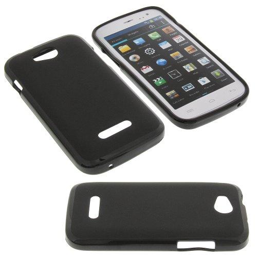 Tasche für Mobistel Cynus F4 Gummi TPU Schutz Handytasche schwarz
