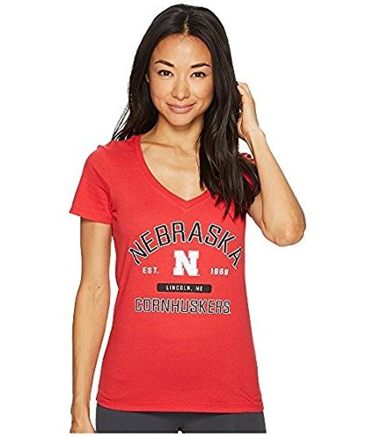 熟考する批判的ハーネスチャンピオンカレッジ Champion College レディース トップス シャツ ブラウス Scarlet Nebraska Cornhuskers University V-Neck Tee [並行輸入品]