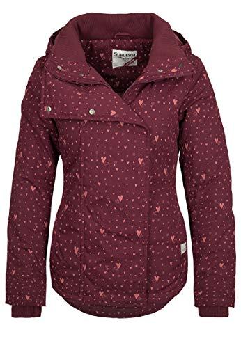 Sublevel Damen Winterjacke, Größe:M, Farbe:Bordeaux