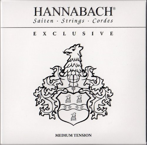 Hannabach 652737 Klassikgitarrensaiten Satz Exclusive Serie Medium Tension
