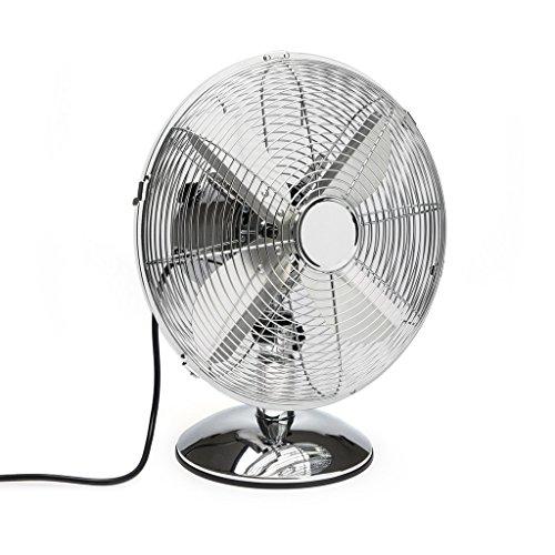 Balvi Vintage 3 ventilator, tafelmodel met 2 standen en verstelbare hellingshoek, metaal, 40 x 33 x 24 cm