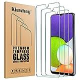 Kiewhay Protector de Pantalla Compatible con Samsung Galaxy A22/ A32/ M22/ M32 Cristal Templado 6,4'', [9H Dureza] [Sin Burbujas] HD Vidrio Templado para Samsung Galaxy A22/ A32/ M22/ M32-3 Piezas