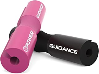 Power Guidance Barbell Squat Pad - Neck and Shoulder Protective Pad - Great for Squats, Lunges, Hip Thrusts, Weight Lifting and More