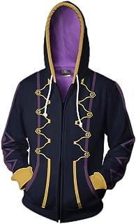 Xinxin Flame Emblem Robin Anime 3D Cosplay Cardigan Zip Hoodie/Unisex Adult
