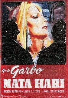 Mata Hari Greta Garbo Huge Vintage PAPER Movie Poster Measures 40 x 27 Inches (100 x 70 cm ) approx