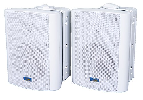 Lowest Price! TIC ASP60-W 5 Outdoor Weather-Resistant Patio Speakers with 70v Switch (Pair) - White