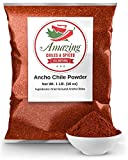 Ancho Chile Pepper Powder Ground 1 LB (16oz) – All Natural - Great For Recipes Like Mexican Mole,...
