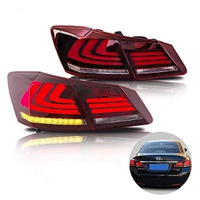 MOSTPLUS LED Brake Tail Lights for 2013-2015 Honda Accord 4 Door Sedan Set of 2