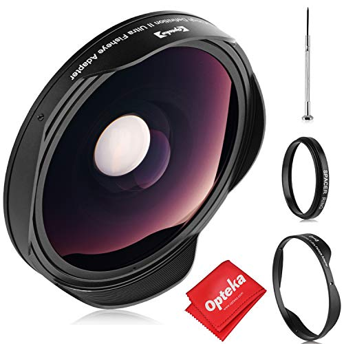 Opteka Platinum Series 0.3X HD Ultra Wide Fisheye Lens for Canon, Sony, JVC Camcorders with 37mm Threads