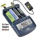 AccuPower IQ sérieChargeurHigh End pour 18650avec écran, Fonction de décharge, Mesure de la capacité, système...