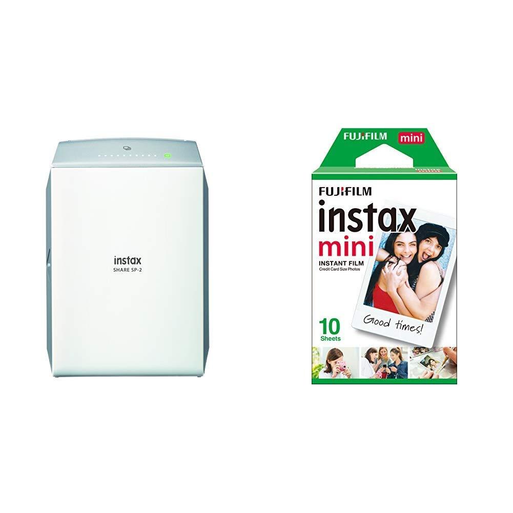 Fujifilm Instax Share SP-2 - Impresora para Smartphone, Plata + Instax Mini Brillo: Amazon.es: Electrónica