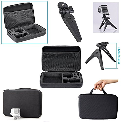 Neewer 22-in-1 Sport Accessory Kit for GoPro Hero4 Session Hero1 2 3 3+ 4 SJ4000 5000 6000 7000 Xiaomi Yi in Swimming Rowing Skiing Climbing Bike Riding Camping Diving and Other Outdoor Sports