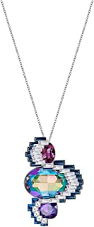 Swarovski Women's Palladium Plated Metal Crystal Pendant Necklace 75 cm - 5222341