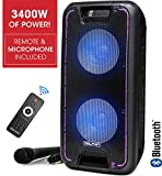 Dolphin SP-210RBT Portable Bluetooth Party Speaker on Wheels with Lights, 10' PartyBox