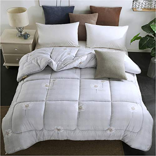Style Student Winter Quilt Household Keep Warm Thicken Bedroom Double Printing Bedding Dorm Room Cotton Individual Core Multifunction (Color : F, Size : 150X200cm(2kg))