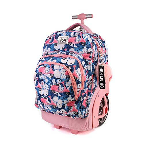 Oh My Pop! Pop! Pink Scooter-zaino Trolley Travel Gtx Rucksack, 53 cm, 59.5 liters, Mehrfarbig (Multicolour)