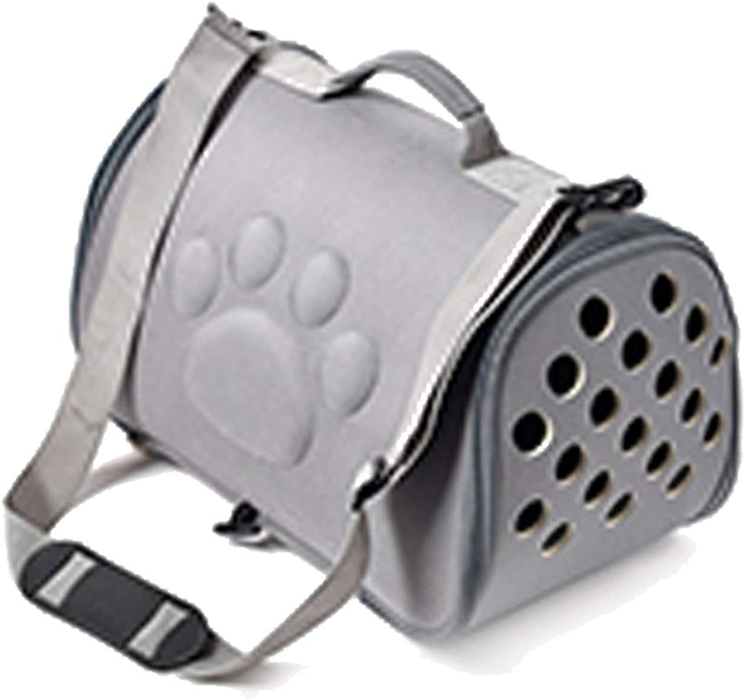 Pet Carrier Backpack,Foldable and Washable Travel Outing Pet Bag,Multiple Air Vents Waterproof Lightweight Pet Handbag for Cats Small Dogs & Petite Animals,Designed for Walking & Outdoor Use