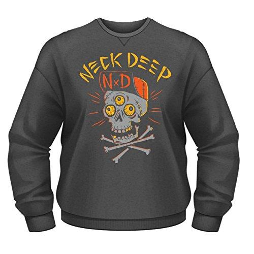 Plastic Head Neck Deep Skulls CSW Felpa, Grigio, S Uomo