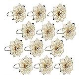12 anelli portatovaglioli per banchetti di nozze, cene, decorazione fatta a mano con fiori di cristallo, tovaglioli, anelli per cene di Natale, feste o matrimoni 12 one for sale, Come da immagine