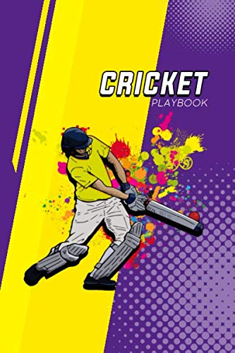 Cricket Playbook: Practical notebook for cricket enthusiasts | Guided logbook for tracking progress, planning strategies or just taking notes