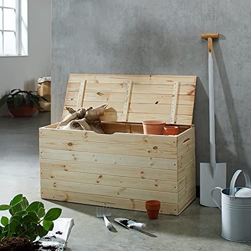 Blinky Holztruhe Tulpe mit Deckel, 100cm - 4