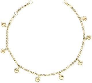 Mia Diamonds 14k Yellow Gold Figaro Anklet 1.3mm