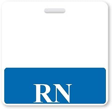 RN Registered Nurse Horizontal ID Badge Buddy 10 Pack