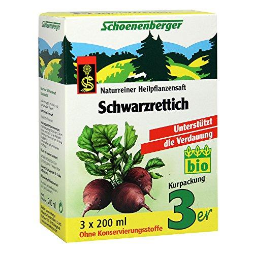 Schoenenberger Schwarzrettich naturreiner Heilpflanzensaft, 600 ml Lösung