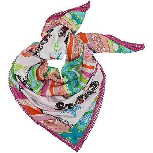 Cute Stuff Xenia Love, doek met boord, kleurrijk, ca. 130 x 130 cm.