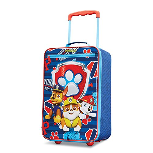 American Tourister Kids' Disney Softside Upright Luggage, Paw Patrol, Carry-On 18-Inch