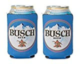 Busch 12oz Beer Can Cooler Holder Kaddy Coolie Huggie Set of 2