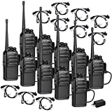 TIDRADIO TD-777 Two Way Radio Rechargeable Long Range 2Way Radios UHF Radio VOX 2 Way Radios Walkie Talkies for Adults with Secret Service Earpiece 10 Pack