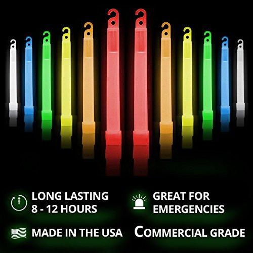 "Cyalume 9-00741 Snap Light Stick, 6"", Red/White/Blue/Green/Yellow/Orange (Pack of 12)"