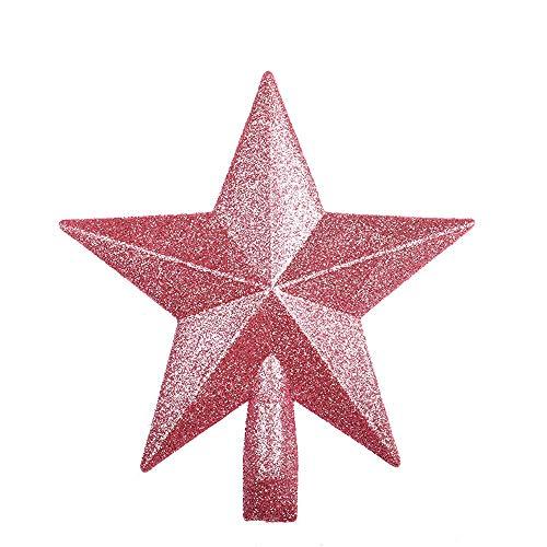 WARMWORD Adorno para coronar el árbol de Navidad - Ideal para Cualquier decoración - Plástico Resistente a los...