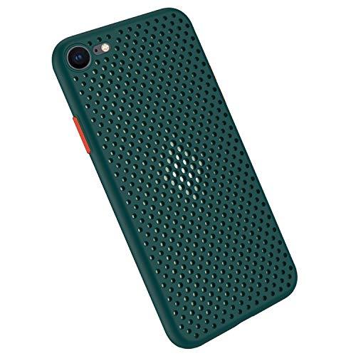 Rdyi6ba8 Funda Silicone Case para iPhone 6 Plus / 6S Plus, Carcasa de Silicona Suave Antichoque Bumper Anti-Sobrecalentamiento Case para iPhone 6+ / 6S+, Verde Oscuro