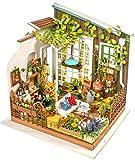 SSDM Kit De Casa De Muñecas En Miniatura De Bricolaje con Muebles, Kit De Casa Modelo 3D, Mini Minijuego, Modelo De Construcción De Ensamblaje Creativo Principal De Apartamento,F